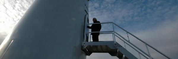 Servicetechniker für die Windenergieanlage